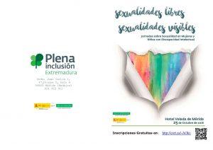 """Jornadas Plena Inclusión: """"Sexualidades Libres, Sexualidades Visibles""""- Sexualidad en Mujeres y Niñas con Discapacidad Intelectual (Mérida)"""