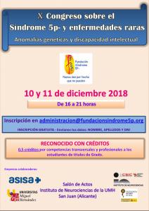 X Congreso sobre Síndrome 5p- y otras Enfermedades Raras (Alicante)