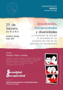 """Jornadas Universidad de Murcia - """"Sexualidades, Discapacidades y Diversidades"""""""