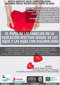 El papel de las familias en la educación afectivo-sexual de los hijos y las hijas con discapacidad