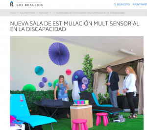 """Boletín Ayuntamiento Los Realejos- Tenerife """"Nueva sala de Estimulación Multisensorial en la Discapacidad"""""""