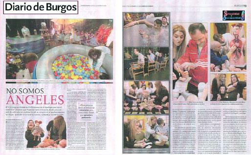 """Diario de Burgos, """"No somos ángeles. Cuerpo, Sexualidad y Estimulación Multisensorial"""""""