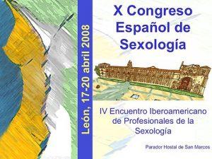 X Congreso Español de Sexología
