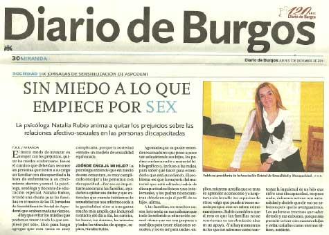"Diario de Burgos, ""Sin miedo a lo que empiece por SEX"""