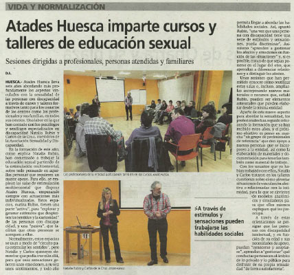 Artículo en el Diario del Alto Aragón